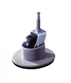 40mm Single Wheel Non Slip - Beige - SET OF 4