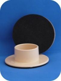 40mm Single Wheel Non Slip - Cream - SET OF 4